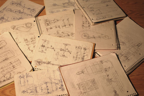Dozens of design notes over the years