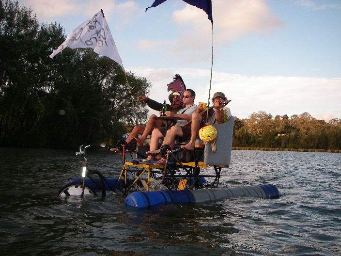 Floating couch bike from Australia