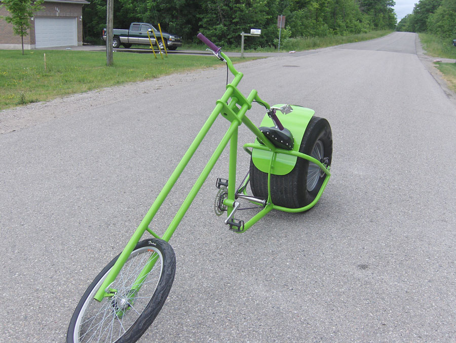 This OverKill style chopper with that phat rear tire is still popular among so many bike chopper builders. So great to see our OverKill still inspires ...