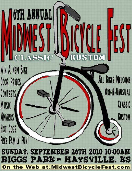 Coasters Bicycle Club annual Midwest Bicycle Fest - Haysville, Kansas - Sept 26