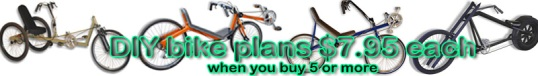 diy bikes, recumbents, choppers, trikes, tandems, ebikes, scooters, trailers, welding, atomiczombie.com