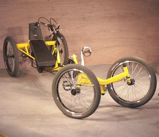 streetfighter recumbent quadcycle by AtomicZombie.com