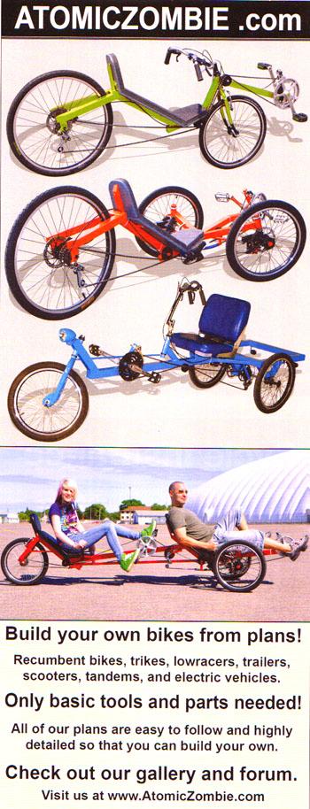 diy bikes, recumbents, choppers, tandems, trikes, bike plans