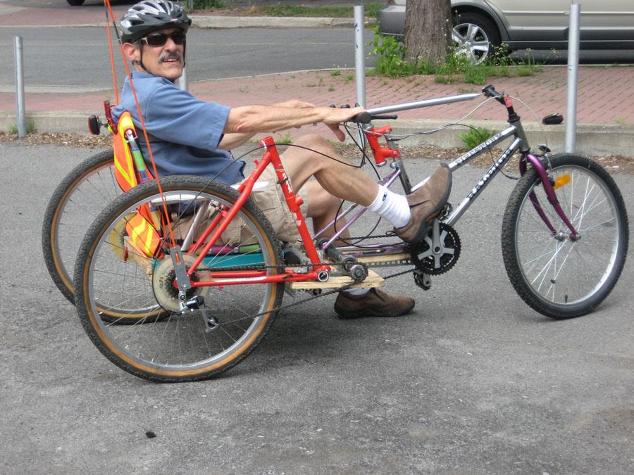 Recumbent Bike Plans Barry 39 s no Weld Recumbent Bike