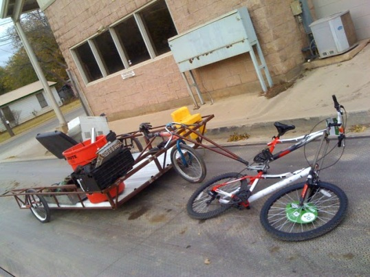 homemade heavy duty bike trailer
