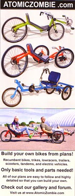 build your own recumbents, trikes, tandems, choppers, ebikes, scooters, trailers and more