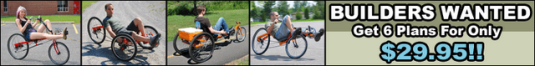 diy bike plans, recumbent plans, chopper plans. handmade bikes