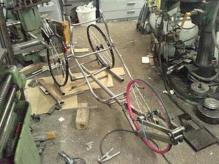 Dusan's prototype recumbent trike - Slovakia