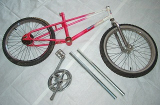 take apart a donor bike