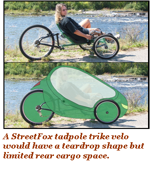 StreetFox tadpole trike for a velo?
